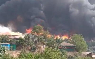 Thousands displaced, facilities gutted following Rohingya camp fire