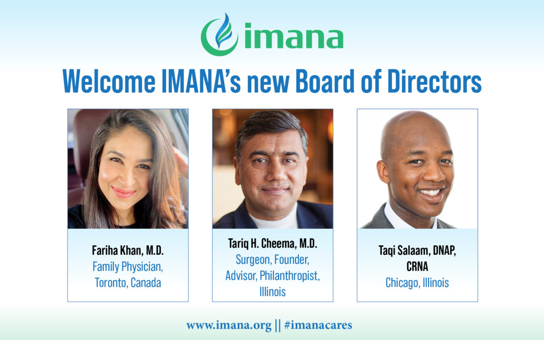 Welcome IMANA's new Board Members